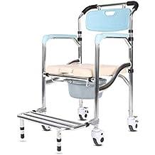 Eeayyygch Inodoro Simple Inodoro Hogar Mujeres Embarazadas WC En Cuclillas Pit Tome un Taburete Plegable Portátil