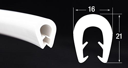 KS-TPE5-8W Kantenschutz aus Thermoplast (TPE) von SMI-Kantenschutzprofi - Weiß - Klemmprofil - einfache Montage, selbstklemmend ohne Kleber – Klemmbereich 5-8 mm (3 m)