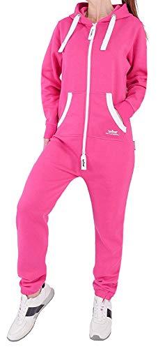 FO2 Finchgirl Damen Jumpsuit Jogging Anzug Trainingsanzug Overall Rosa L