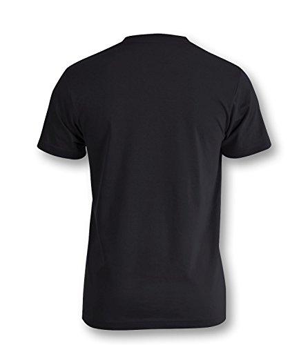 Soccer Evolution - Fußball Evolution - Football Evolution - Herren Rundhals T-Shirt Schwarz/Weiss-neongelb