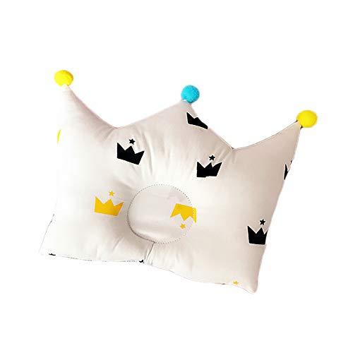 opfkissen Crown Flachkopfkissen Orthopädische Krönchen-Muster-weiche Baumwoll neugeborenes Kind Kopf formte Kissen Neugeborene Jungen-Mädchen-Raum-Dekoration Zubehör 0-24 ()