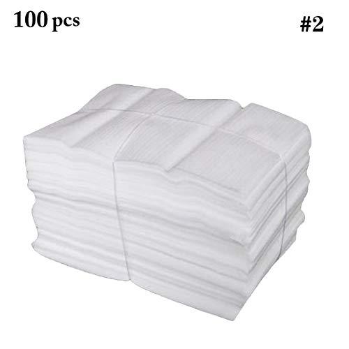 Outgeek Bolsas de Espuma, 100 Piezas Envoltura de Espuma Envoltura de Manera Segura EPE Recubierto Bolsa de Espuma de Algodón Recubierto de Perla Bolsa de Amortiguador para Cajas Móviles