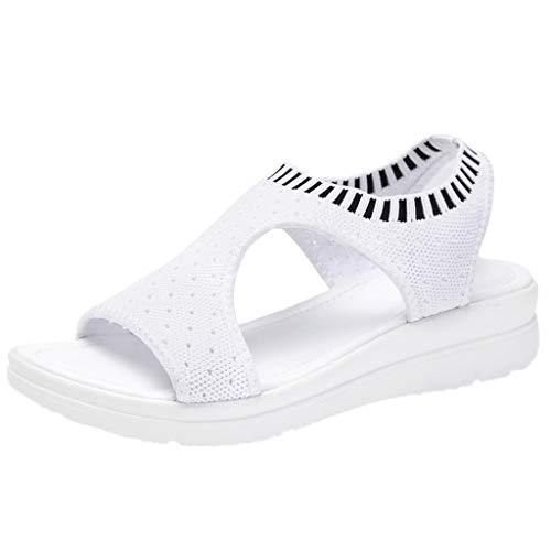 Ears Damenmode Römische Schuhe Vintage Stiefeletten Lässige Sneakers Plus Größe Flache Fußschuhe Strand Sandalen Tuch Schuhe Open Toe Knöchelriemen Sandalen Casual römische Schuhe (Schnalle Pad Toe)