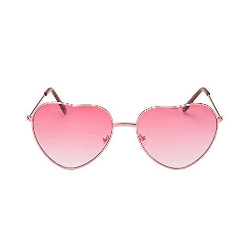 Accessoryo - Metallrahmen Herzform rosa revo Linsen Sonnenbrille der Frauen