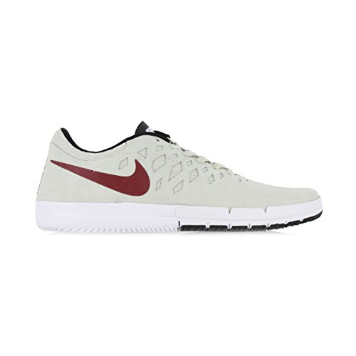 Nike Free Sb, Chaussures de Sport Homme Blanc Cassé - Blanco (Blanco (Light Bone/Team Red-Black))