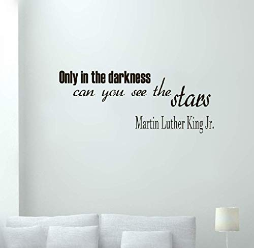wandaufkleber blumen fer Zitate nur in der Dunkelheit können Sie die Sterne Martin Luther King sehen