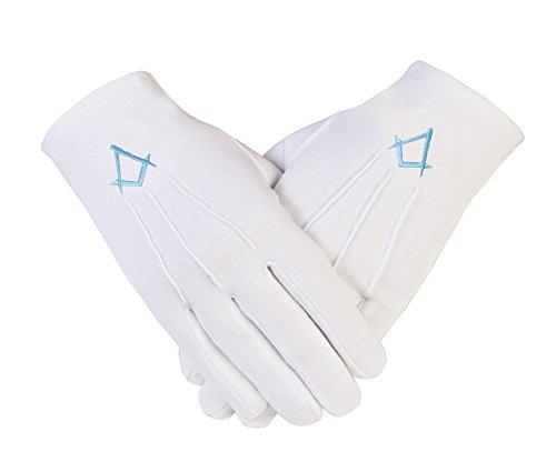 Gloves4masons De Logia cama algodón caja Turq guantes