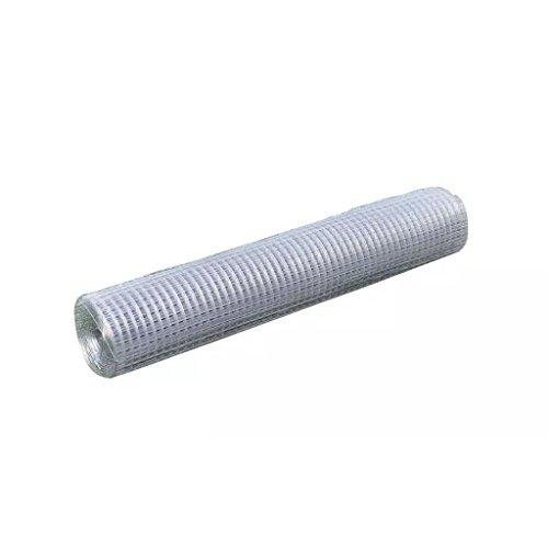 Rete per recinzione metallica galvanizzata a maglia quadrata 1x10 m 0,75 mm