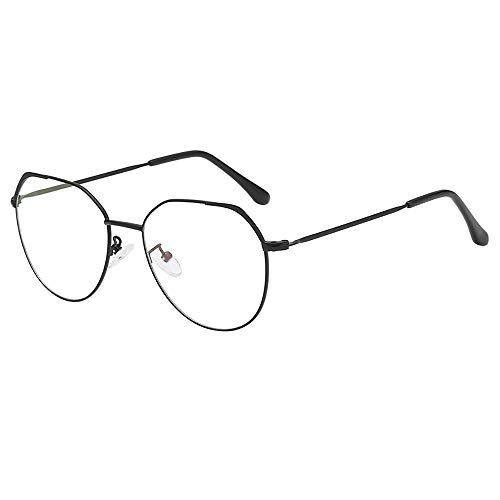 Igemy Unregelmäßige Klare Gläser mit Vintage Metallrahmen 2018 Mode Unisex Brille (E)
