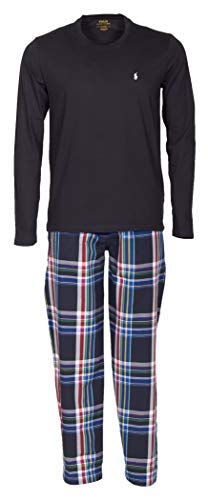Polo Ralph Lauren Pyjama Schlafanzug Langarmshirt und Lange Webhose Geschenkbox M Multi (001) - Ralph Lauren Herren-oberteile