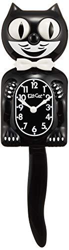 Kit-Cat - Reloj de péndulo (estilo decoración americana), diseño de gato, color blanco y negro