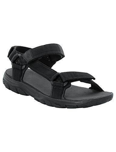 Jack wolfskin seven seas 2 sandal m, sandlai sportivi uomo, nero (phantom 6350), 39.5 eu