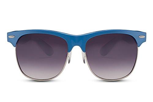 Cheapass Sonnenbrille Clubmaster Blau Retro Damen Herren