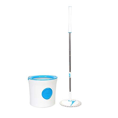 Yglight spinning mop set di mocio rotante e set di pulizia della benna lavaggio e disidratazione a barile singolo 2 in 1 vassoio pieghevole blu testa di zazzera * 6