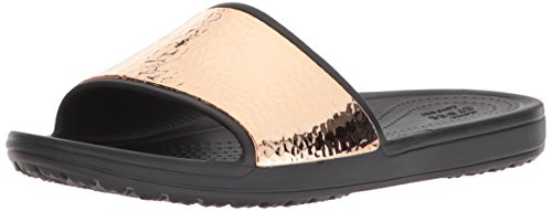 crocs Sloane Hammered Metallic Slide W