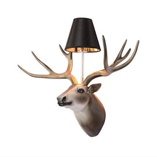 kopf Wandlampe Schlafzimmer Nacht Geweih Lampe Harz Lampe Wohnzimmer Tier Kopf Ornament Kreative Technik Lampen ()