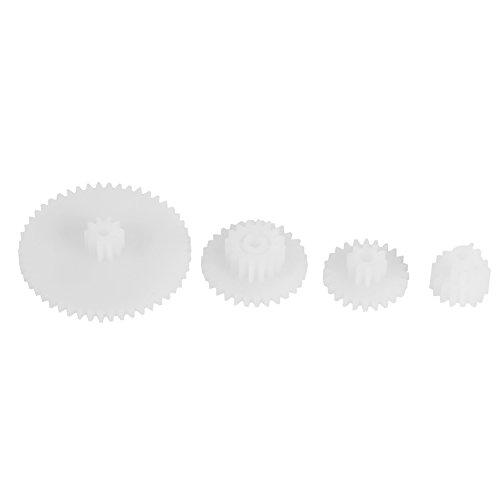 19pcs Engranajes de Plástico de Motor Conjunto de Engranajes de Motor para Modulo de Automóviles /Juguete de Robot/ Coches