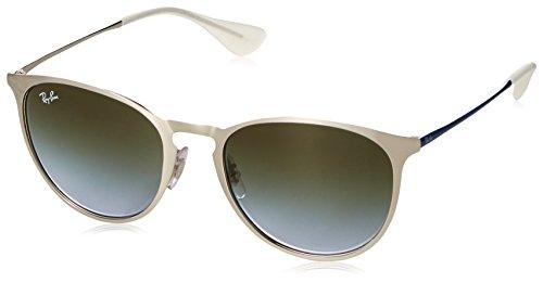 Ray-Ban RAYBAN Unisex-Erwachsene Sonnenbrille 0rb3539 9080i7 54 Brushed Silver/Lightbluegradientgreen