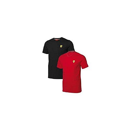 FERRARI Camiseta Hombre Escudo Logo Rojo Talla M