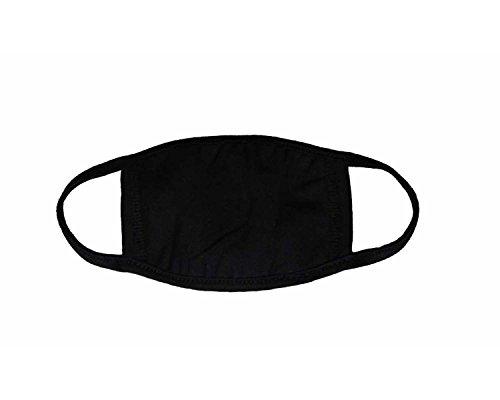 üße Mundschutz Maske Emojimaske Kälteschutz Gesichtsmaske (Einfach-Schwarz) ()