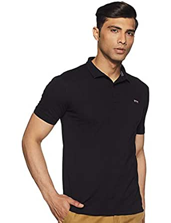 Easies by Killer Men's Solid Slim fit T-Shirt (ETS-926 Arctic H_Black_Small)