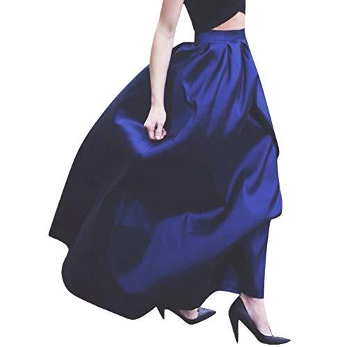 3946f78a9de6 Anglewolf Womens Plain Soft Stretch Ladies Elasticated Waistband Knee  Length Full Fla Swing Skater Midi Skirt