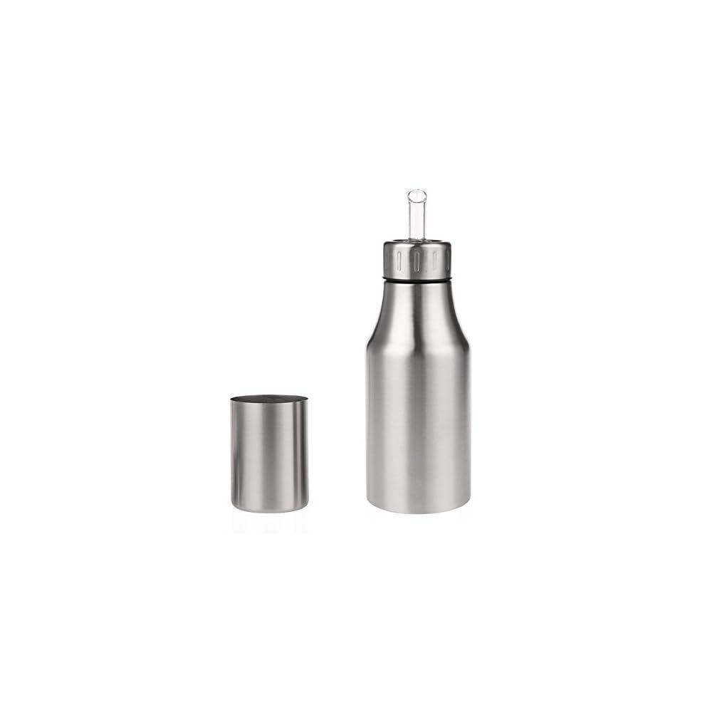 L Flasche Edelstahl L Essig Spender Lbehlter Auslaufsicher Lflasche Liquid Zutatenspender Flasche Staubdicht Silber Novata