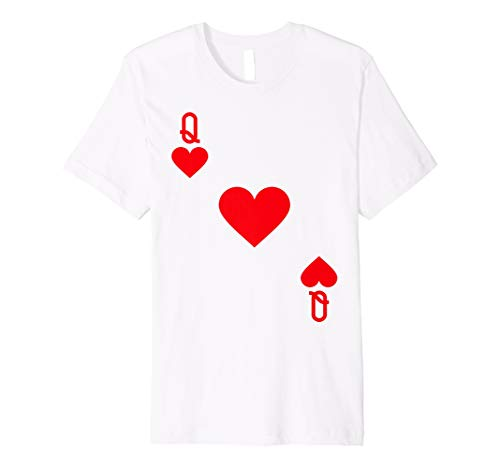 Queen of Hearts Kostüm T-Shirt Halloween Deck Of Cards (Kinder Königin Der Herzen Kostüm Kostüm)
