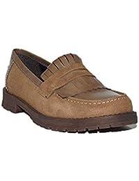 a9fa72b2ab5 Digo-Digo - Zapato Flecos 2093 Zapatos Mocasines de Mujer Camel Casuales  Piel Clásicos
