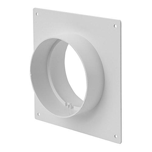 Connettore per tubo di flangia da parete, diametro 125 mm, raccordo per tubo di ventilazione.