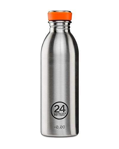 Trinkflasche 1l satiniert Edelstahl von 24bottles