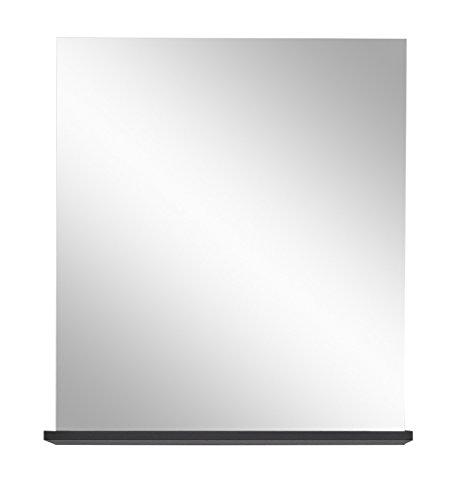 Trendteam Flo Vitrine Highboard Wohnzimmerschrank, Hochglanz weiß/Grau, 88 x 137 cm