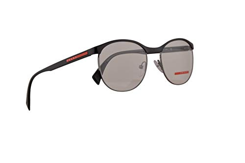 Prada PS50IV Brillen 53-18-140 Schwarz Silber Mit Demonstrationsgläsern 1AB1O1 VPS 50I PS 50IV VPS50I
