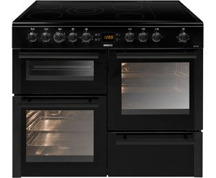Beko BDVC100K 100cm Double Oven Electric Range Cooker With Ceramic Hob Black
