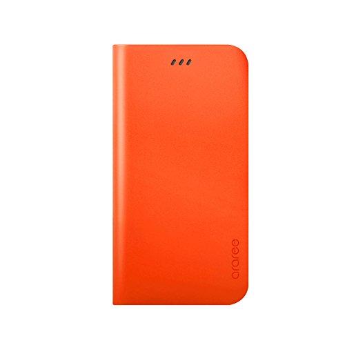iPhone 6S Schutzhülle, araree® [das Original] Premium Echtleder Wallet Case Flip Cover Mit Kreditkarte ID Halter für Apple (2015) orange