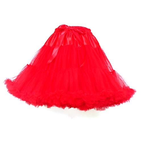 Ludzzi Women Multi -Layer Pleed Ballett Dance Short Tutu Skirt Puffy Drawstring Waist Hooples Cosplay Petticoat Crinoline Underrock for Women Girls Ladies Wear Daily