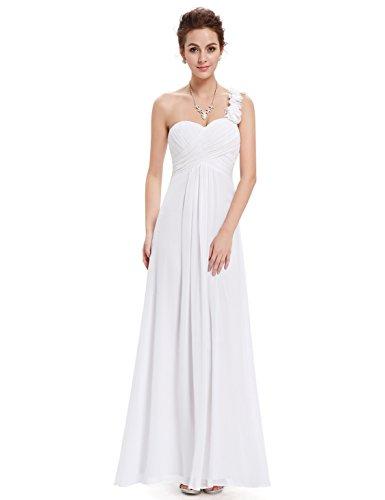 Ever Pretty Flower Ruffles One Shoulder Bridesmaid Dresses for Women 09768