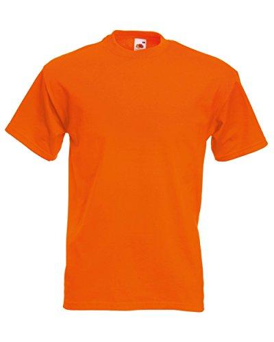 Fruit of the Loom Herren-Super-Premium-Kurzarm-T-Shirt 3XL Orange -