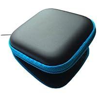 New Schwarz Square Hörgerät blau mit Reißverschluss Storage Hard Carry Case Holder