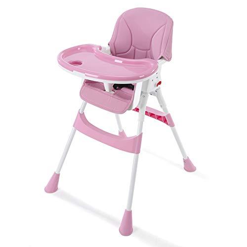 YANHTSO Chaise de Salle à Manger pour bébé Chaise de Table à Manger pour Enfant (Couleur : Pink)