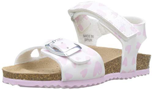 Geox Baby Mädchen B Chalki Girl a Sandalen, Weiß (White/Pink C0406), 22 EU