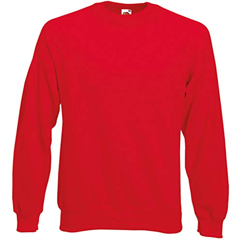 Fruit of the Loom Herren, Sweatshirt, Raglan Sweatshirt L,Rot - Rot