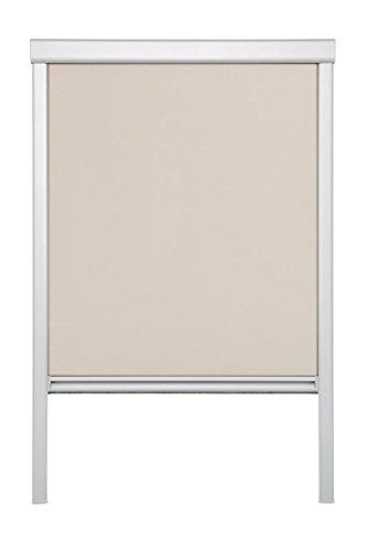 Lichtblick Dachfenster-Rollo Skylight, 61,3 x 94,0 cm (B x L) in Creme, 100 {23acd319d39e9ad24b885a9acbc9d1aaebaf7f98c6272545397c653608748673} Verdunkelung, Thermo-Rollo für Velux-Fenster, Sonnen-, Hitze- & Sichtschutz (M06)