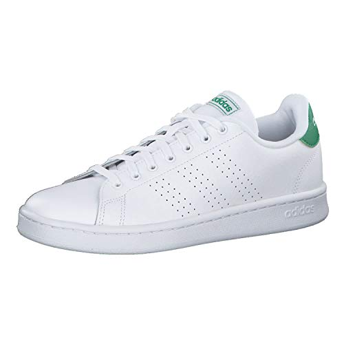 adidas Advantage, Scarpe da Tennis Uomo, Multicolore Ftwr White/Green F36424, 38 2/3 EU