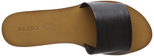 ALDO Damen Brittny Offene Sandalen mit Keilabsatz Schwarz (97 Black Leather)