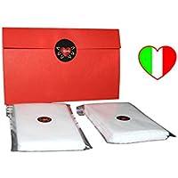 Filtro tnt per protezione facciale lavabile con tasca 96 pezzi 13 x 8 cm; filtri di ricambio resistenti, morbidi, idrorepellenti