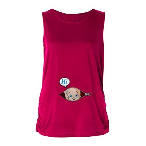 Patifia Schwangerschaft süßes Funny Baby gedruckt Groß Größe lustige T-Shirt Mutterschaft Lady Tops Umstandsmode Gestreiftes Kurzarm-Stillshirt Schwangere Oberteile -
