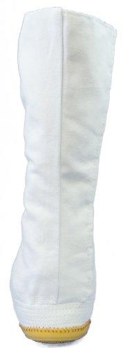 Chaussures d'Art Martiaux Bout Coque 12 Clips Importe du Japon Blanc