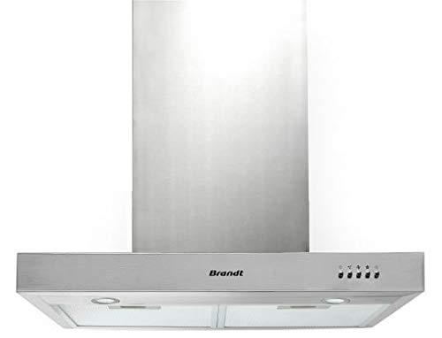 Brandt BHB6601X hotte 602 m³/h Monté au mur Acier inoxydable B - Hottes (602 m³/h, Conduit, C, A, B, 70 dB)