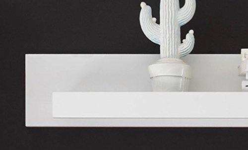 Wohnzimmer Set mit Standvitrinen & LED-Beleuchtung 270cm 4-teilig 440944 weiß - 5